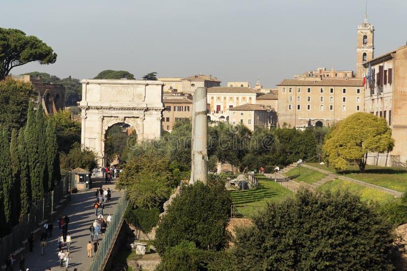 Tito-Bogen - römisches Forum stockfoto