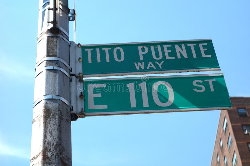Tito Puente Way stock photos