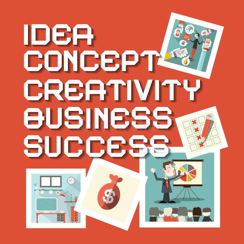 Titoli di successo di concetto di creatività di affari di idea royalty illustrazione gratis