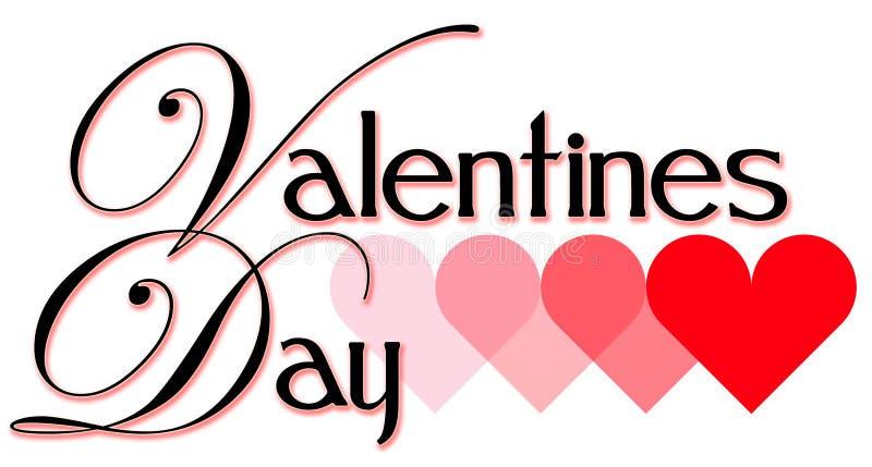 Titolo di giorno del biglietto di S. Valentino illustrazione di stock