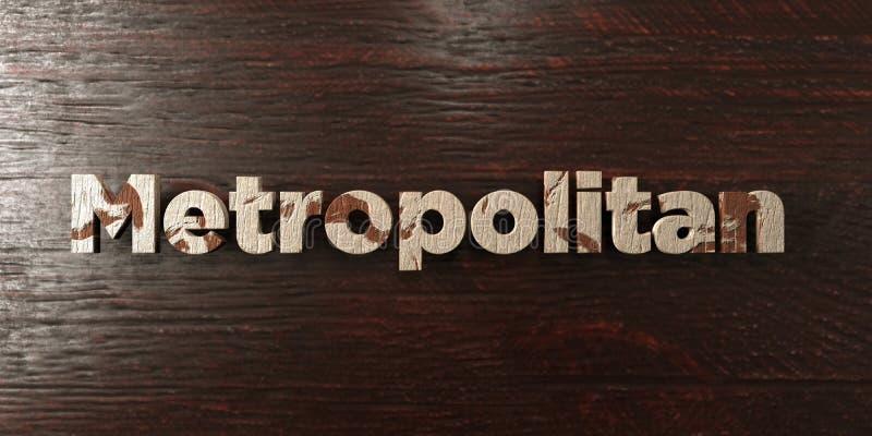 - Titolo di legno grungy sull'acero - 3D metropolitano ha reso l'immagine di riserva libera della sovranità royalty illustrazione gratis