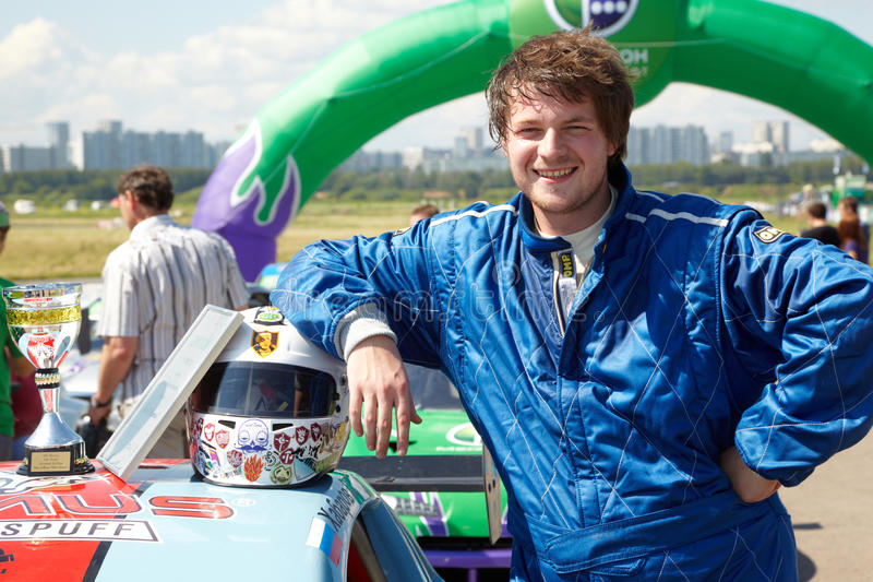 Download A.Titov Takes 3-d Place At Moscow Racetrack Editorial Stock Image - Image: 25446789