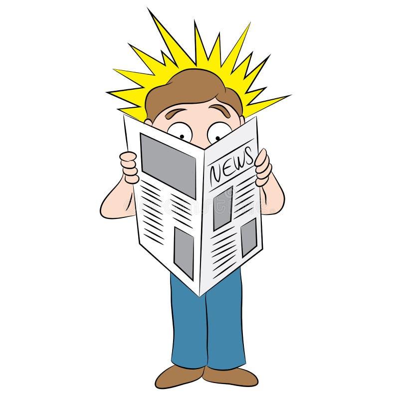 Titre choquant dans la bande dessinée de journal illustration de vecteur