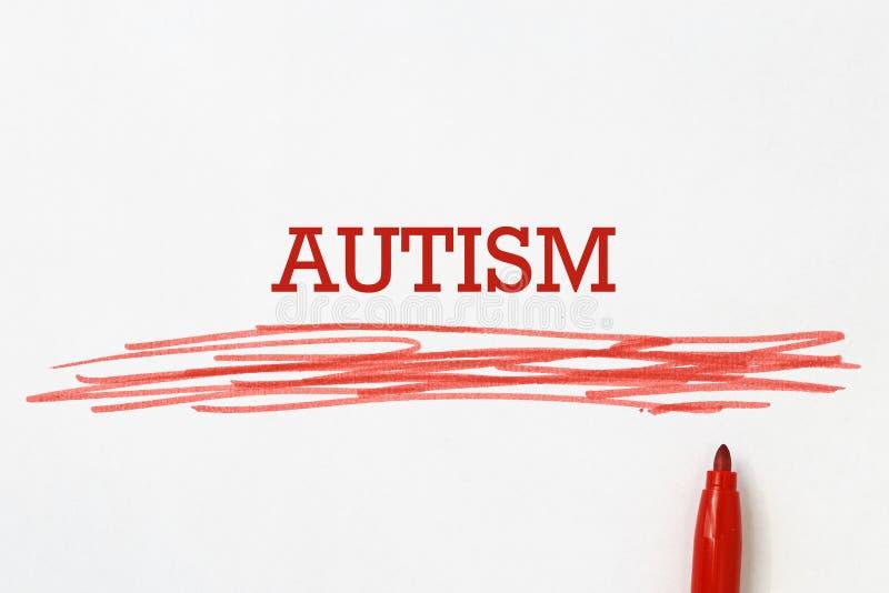 Titre d'autisme photo stock