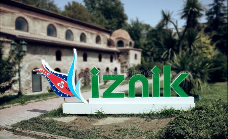 Titre d'Iznik dans le jardin de Hagia Sophia Church dans Nicaea, Brousse photo libre de droits