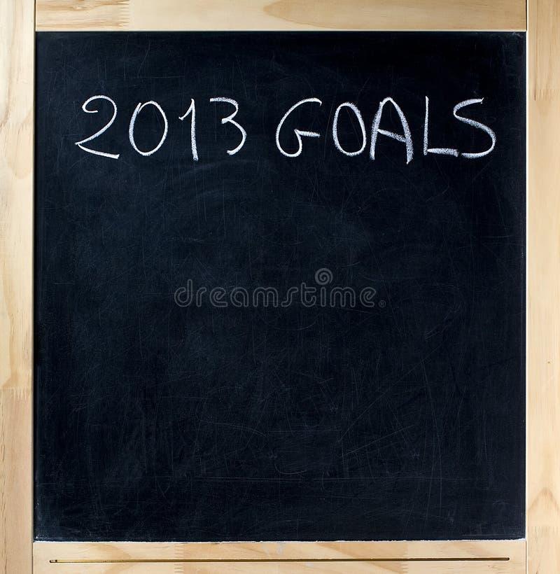Titre de 2013 buts sur le tableau image libre de droits