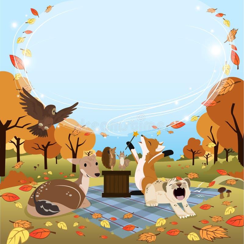 Titre de blanc de version de place d'Autumn Greeting images stock