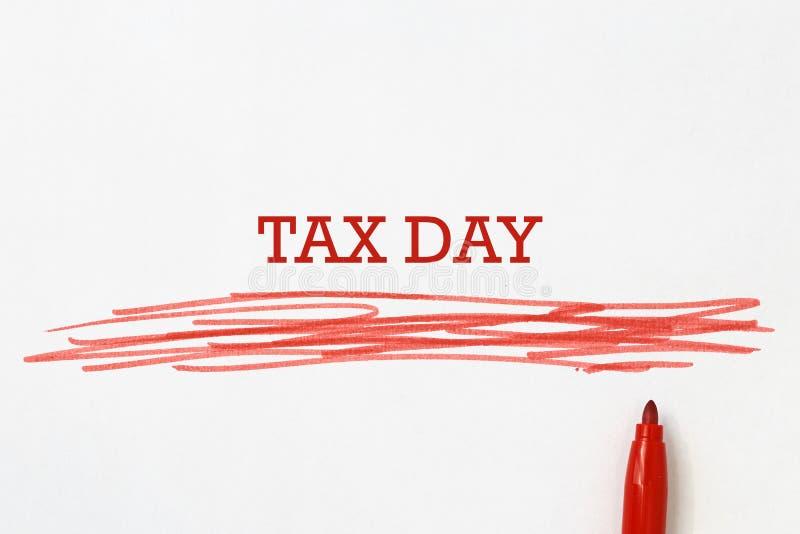 Titre de jour d'impôts photo stock