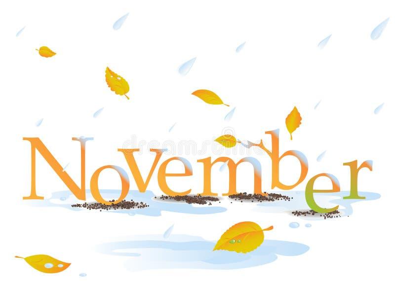 Titre de novembre illustration stock