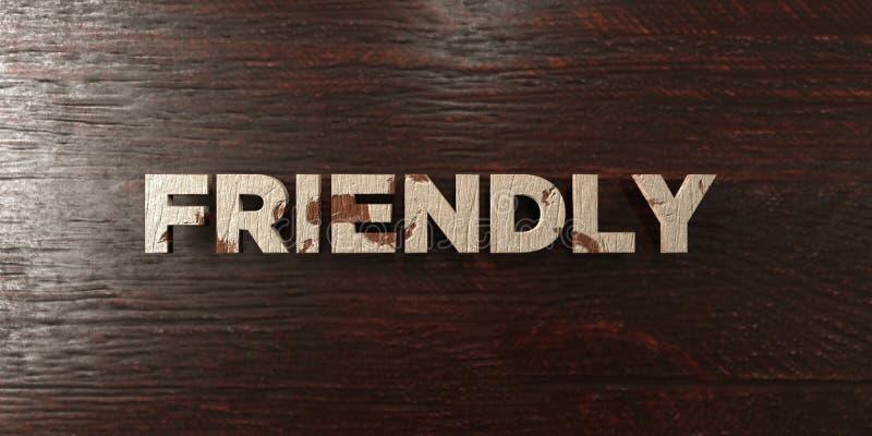 - Titre en bois sale sur l'érable - 3D amical a rendu l'image courante gratuite de redevance illustration de vecteur