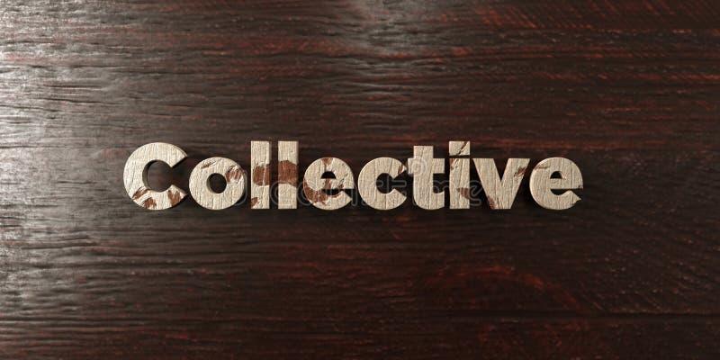 - Titre en bois sale sur l'érable - 3D collectif a rendu l'image courante gratuite de redevance illustration stock