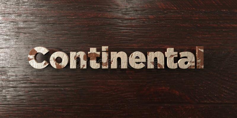 - Titre en bois sale sur l'érable - 3D continental a rendu l'image courante gratuite de redevance illustration libre de droits