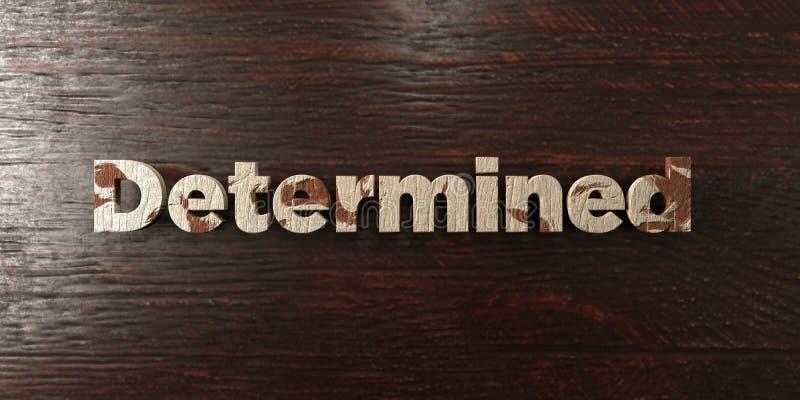 - Titre en bois sale sur l'érable - 3D déterminé a rendu l'image courante gratuite de redevance illustration libre de droits