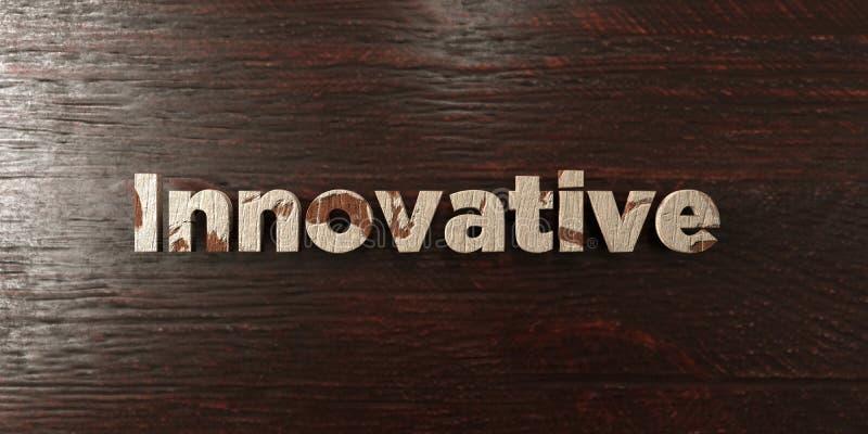 - Titre en bois sale sur l'érable - 3D innovateur a rendu l'image courante gratuite de redevance illustration libre de droits