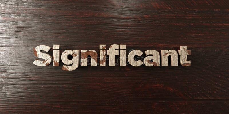 - Titre en bois sale sur l'érable - 3D significatif a rendu l'image courante gratuite de redevance illustration libre de droits