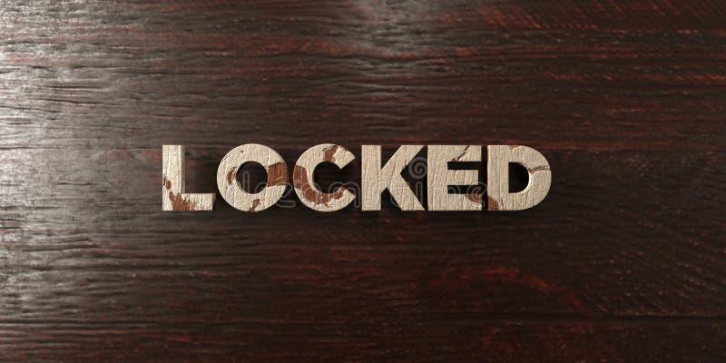 - Titre en bois sale sur l'érable - 3D verrouillé a rendu l'image courante gratuite de redevance illustration libre de droits
