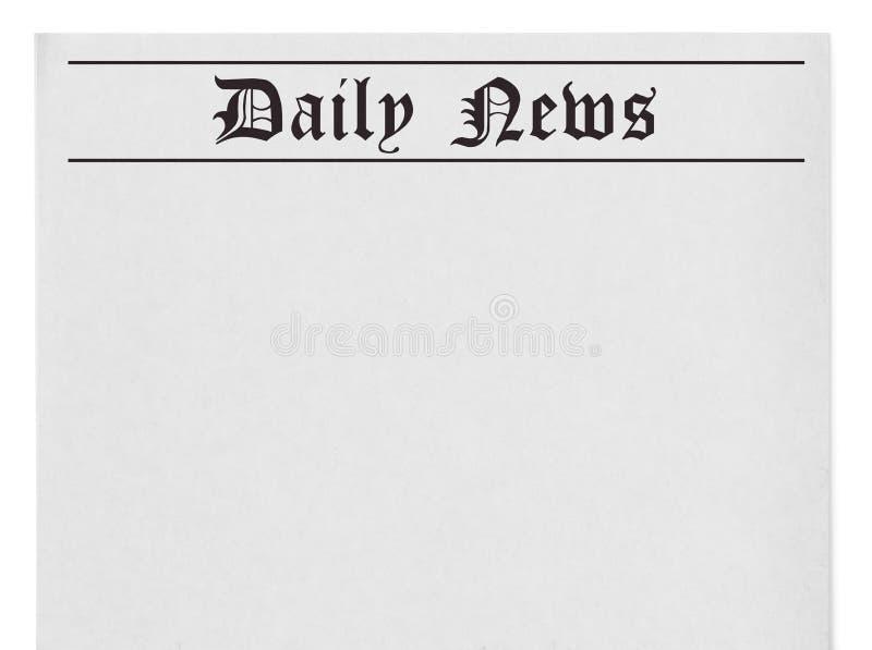 Titre quotidien d'actualités sur le journal illustration libre de droits
