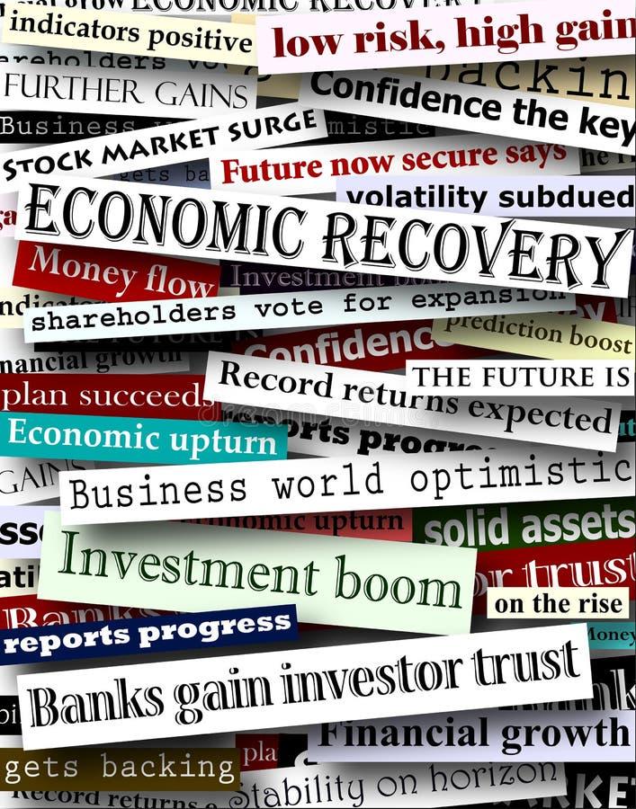 Titres financiers de reprise photo libre de droits