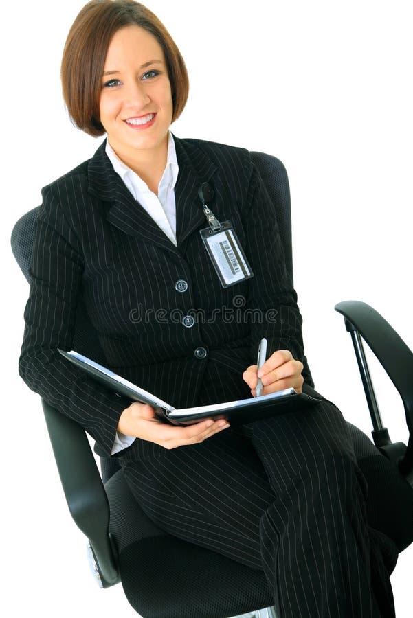 tittare för affärskvinnakvinnliglook arkivbilder