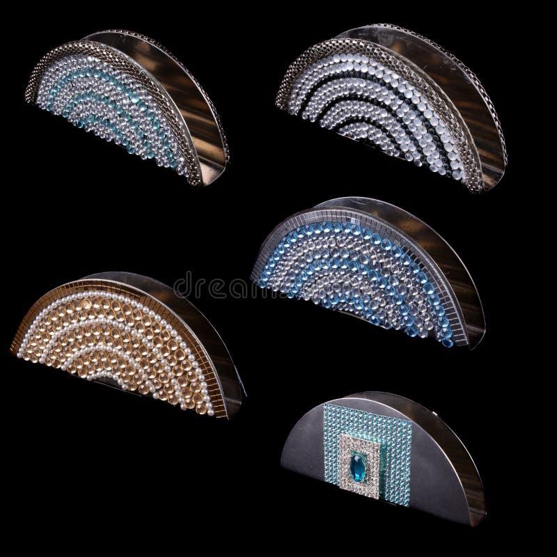 Titulares de tejidos en diferentes diseños foto de archivo