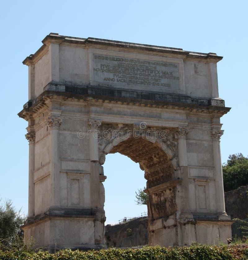 titus rome свода стоковое фото