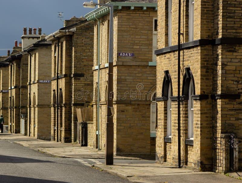Titus Street, Saltaire immagine stock