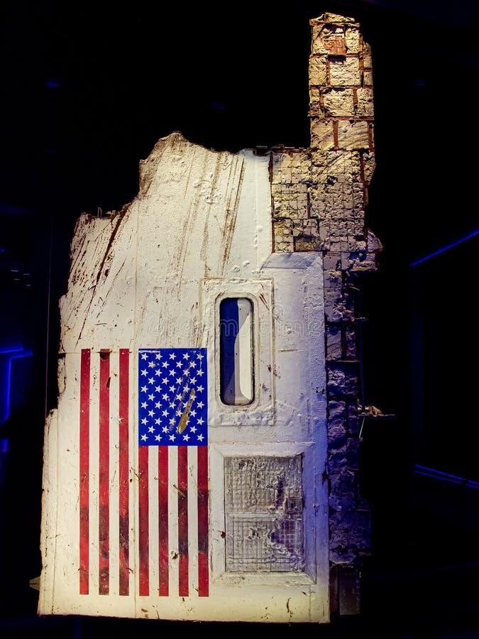 TITUSVILLE, LA FLORIDA - 22 DE AGOSTO DE 2018: Kennedy Space Center Los restos de la lanzadera del desafiador fotografía de archivo libre de regalías