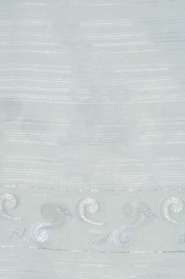 Tiul, organza, biel, z wzorem kwiaty zdjęcie stock