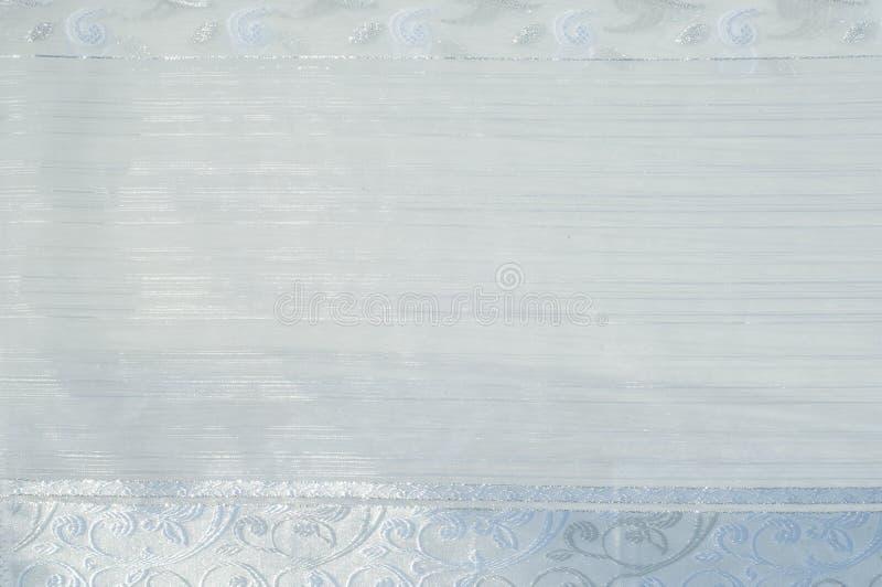 Tiul, organza, biel, z wzorem kwiaty fotografia stock