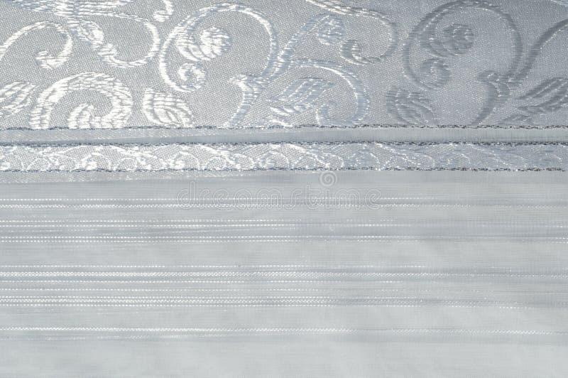Tiul, organza, biel, z wzorem kwiaty obrazy royalty free