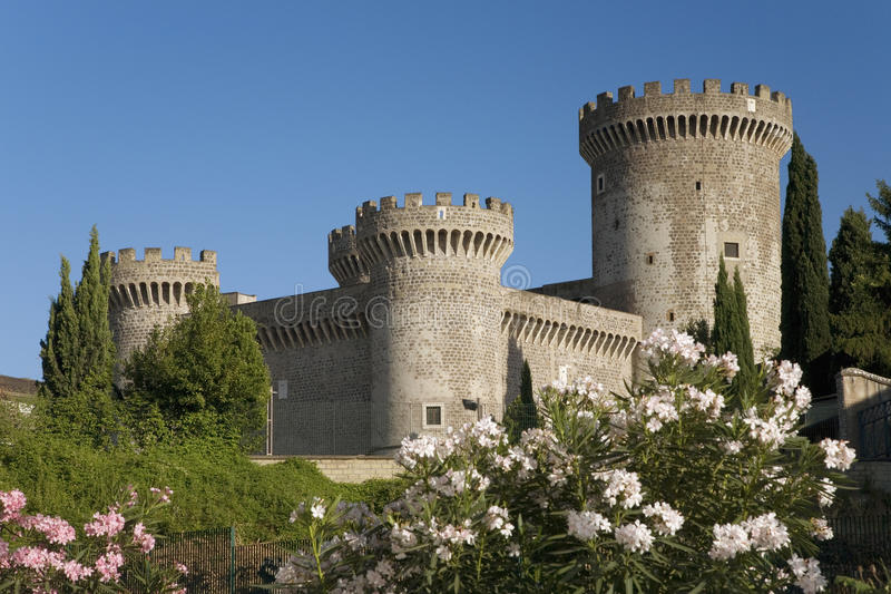 Tivoli Castle, or Castle of Rocca Pia, built in 1461 by Pope Pius II, Tivoli, Italy, Europe stock photography