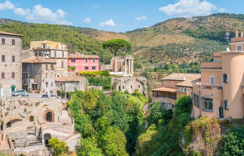 Tivoli dans un matin d'été, province de Rome, Latium, Italie centrale image stock