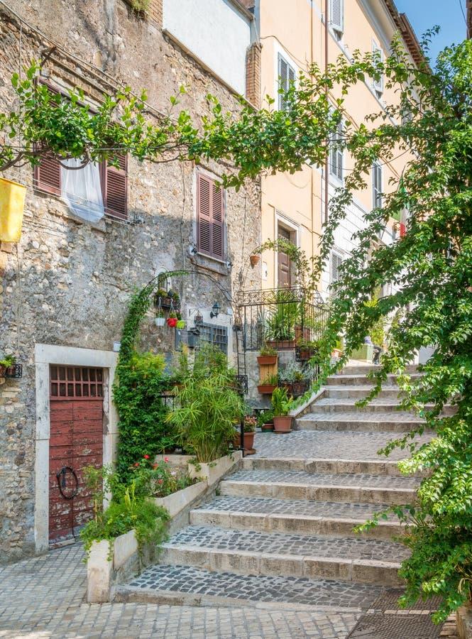Tivoli dans un matin d'été, province de Rome, Latium, Italie centrale photos stock