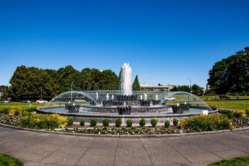 Tivoli Fountain replica Olympia WA stock photography
