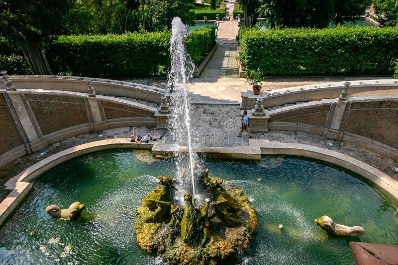 Tivoli, Italien: Landhaus d 'Este stockbilder
