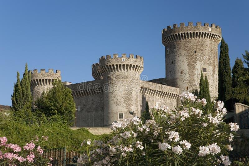 Tivoli slott eller slott av Rocca Pia som byggs i 1461 av påven Pius II, Tivoli, Italien, Europa arkivbild