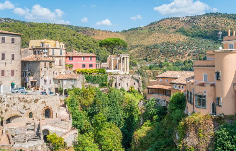 Tivoli in a summer morning, province of Rome, Lazio, central Italy. Tivoli is a town and comune in Lazio, central Italy, about 30 kilometres east-north-east of stock image