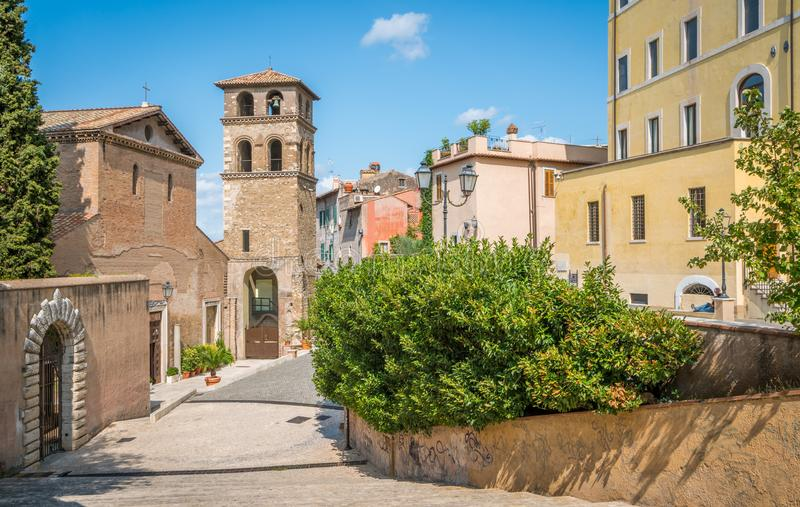 Tivoli in a summer morning, province of Rome, Lazio, central Italy. Tivoli is a town and comune in Lazio, central Italy, about 30 kilometres east-north-east of royalty free stock photography