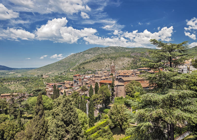 Tivoli - un lugar de descanso antiguo de la nobleza romana fotografía de archivo libre de regalías