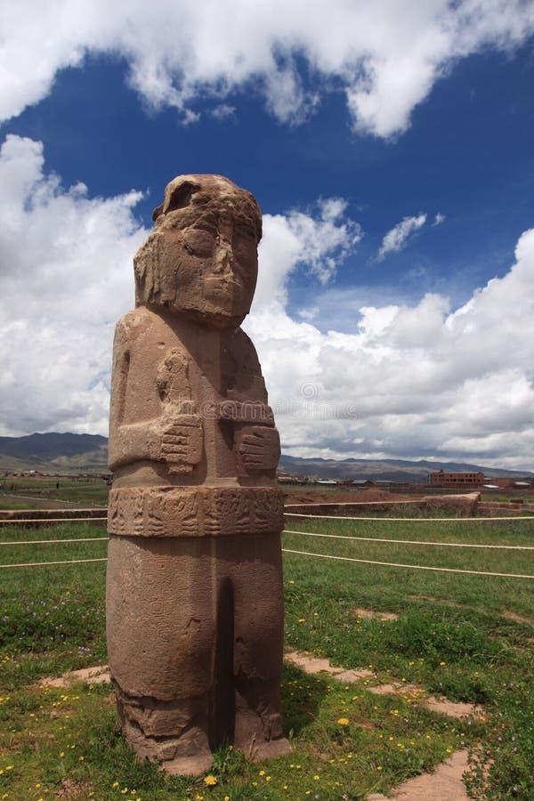 Tiwanaku废墟,拉巴斯 库存照片