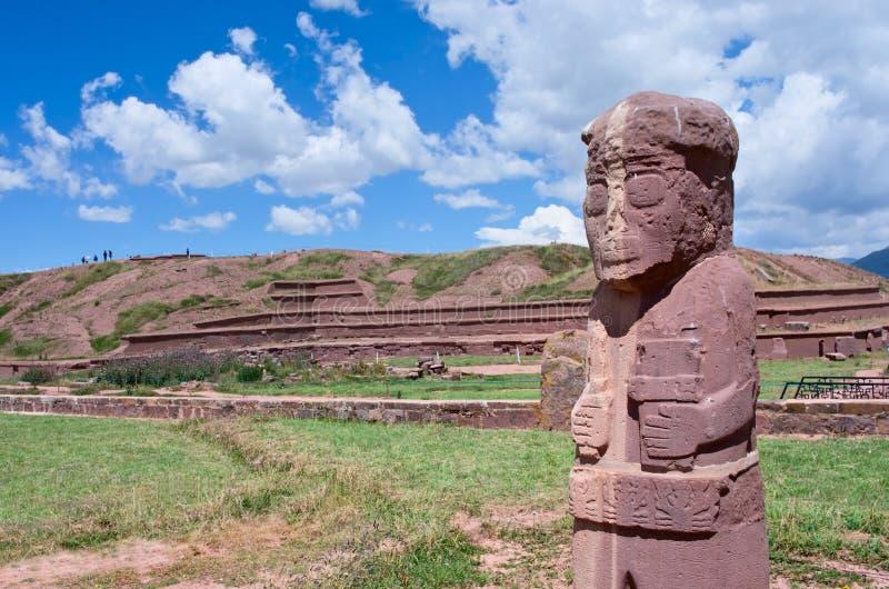 Tiwanaku Руины в Боливии, стоковое изображение rf