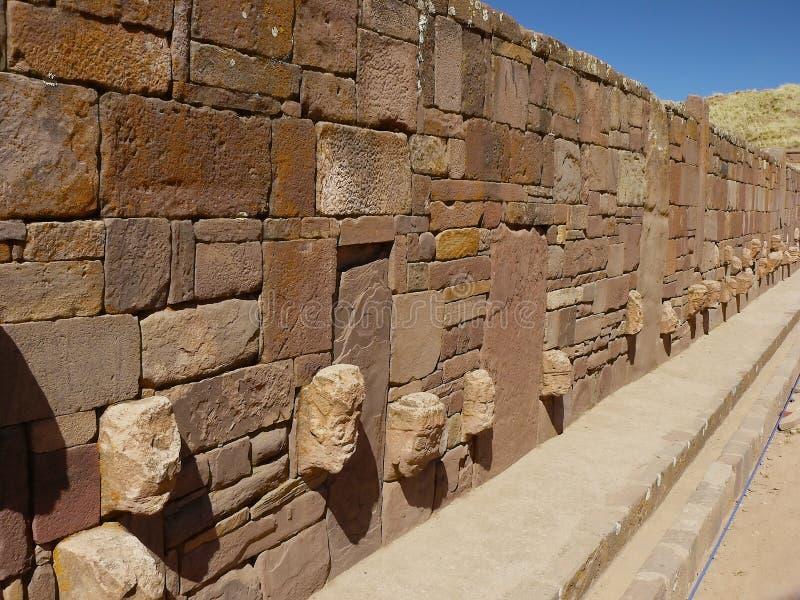 Tiwanaku, Altiplano, Bolivien lizenzfreies stockfoto