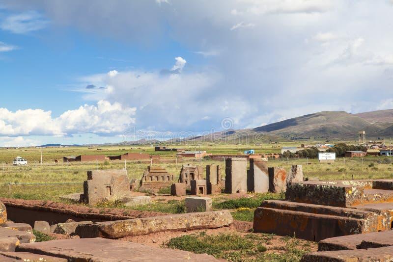 Tiwanaku arv i Bolivia fotografering för bildbyråer