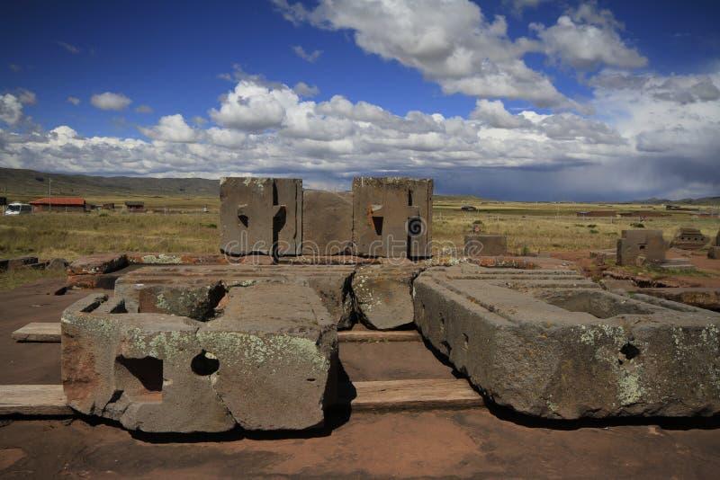 Tiwanaku Bolivia royaltyfria bilder