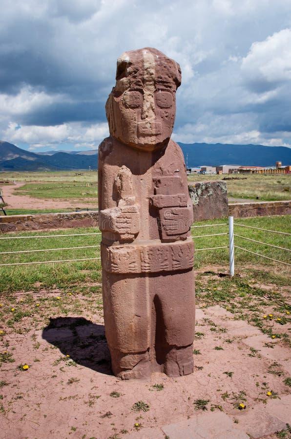 Tiwanaku Fördärvar i Bolivia, arkivbilder