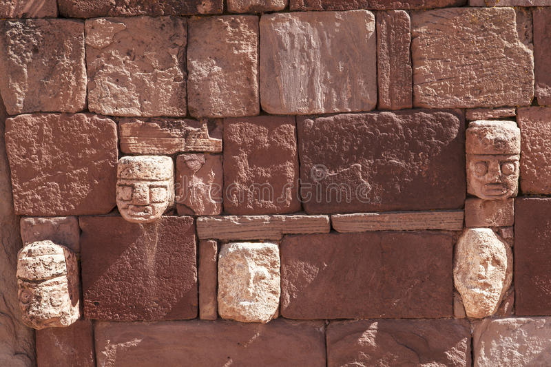 Tiwanaku Heritage in Bolivia. This photo is taken in Bolivia. Tiwanaku Spanish: Tiahuanaco or Tiahuanacu is a Pre-Columbian archaeological site in western royalty free stock photography