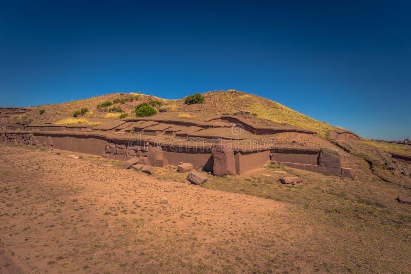 Tiwanaku - July 27, 2017: Ruins of the ancient city of Tiwanaku, Bolivia stock image