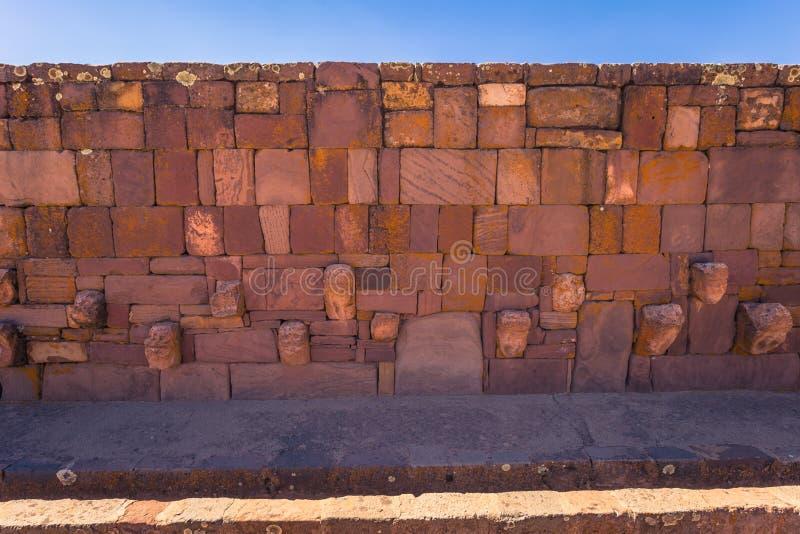 Tiwanaku - July 27, 2017: Ruins of the ancient city of Tiwanaku, Bolivia stock images