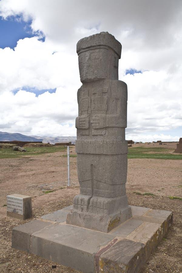 Tiwanaku ou Tiahuanaco fotografia de stock