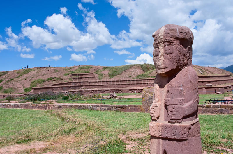 Tiwanaku Rovine in Bolivia, immagine stock libera da diritti
